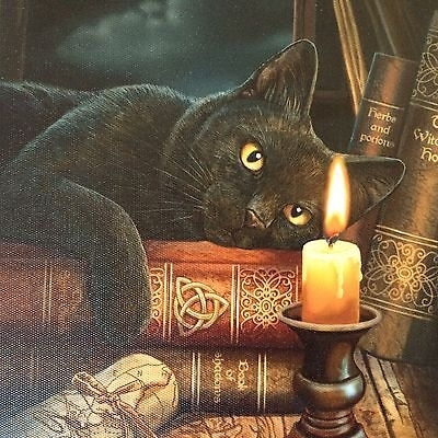 New Bewitched Cat Canvas Wall Art Pictures Designedlisa Parker Within Cat Canvas Wall Art (View 19 of 25)