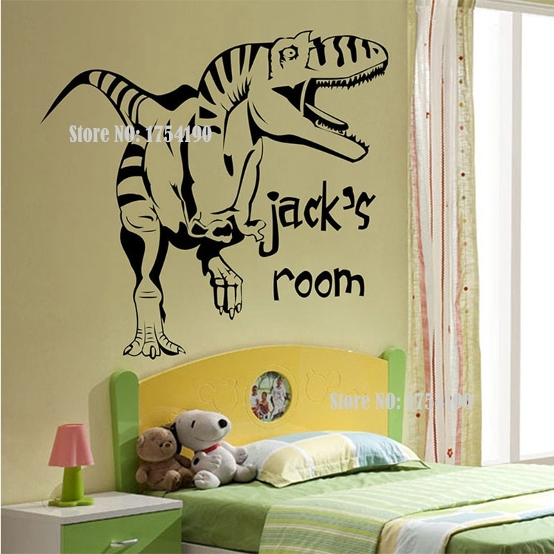 New Cartoon Removable Vinyl Wall Stickers For Kids Rooms With Dinosaur Wall Art (Image 18 of 20)