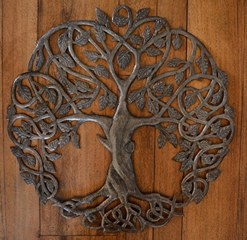 New Design Celtic Inspired Tree Of Life, Metal Wall Art, Fair Trade Pertaining To Tree Of Life Metal Wall Art (View 1 of 10)