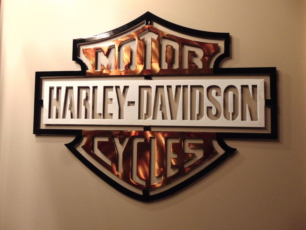New Harley Davidson Metal Wall Art Design 15' X 20'glmaw Regarding Harley Davidson Wall Art (View 3 of 25)