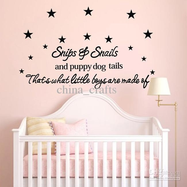 New Listing Baby Room Wall Stickers 50X110Cm Children's Room Wall With Baby Room Wall Art (Image 17 of 20)