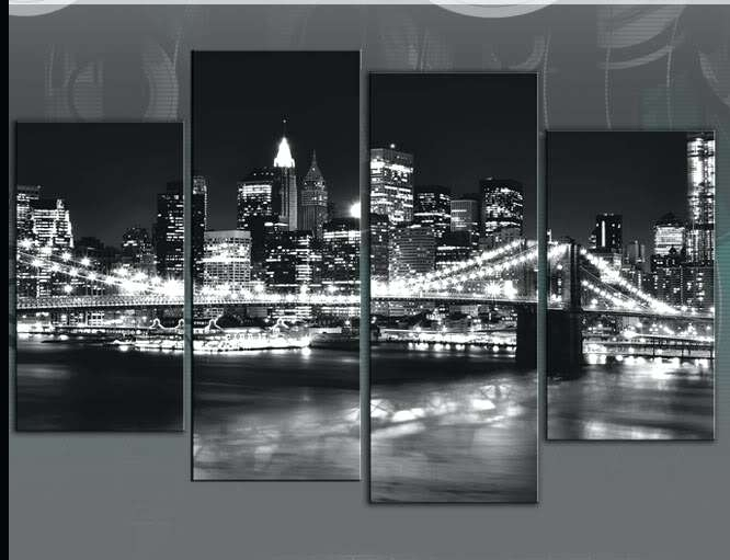 New York City Skyline Wall Art Skyline Canvas Glamorous New Canvas Regarding New York Canvas Wall Art (Image 5 of 10)