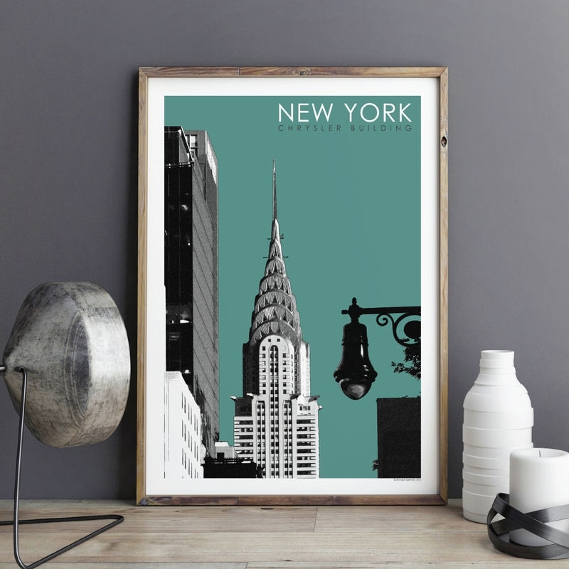 New York Wall Art Print – Travel Print – Chrysler Building – City In New York Wall Art (View 22 of 25)