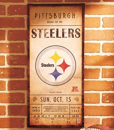 Nfl Classic Ticket Wall Art | Ltd Commodities Intended For Nfl Wall Art (Image 7 of 20)