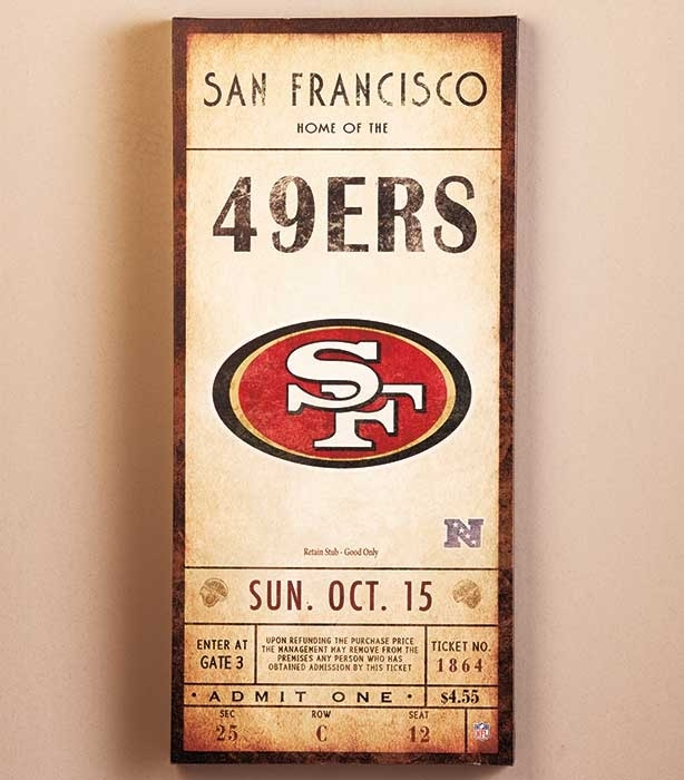 Nfl Classic Ticket Wall Art | Ltd Commodities With Regard To Nfl Wall Art (Image 8 of 20)