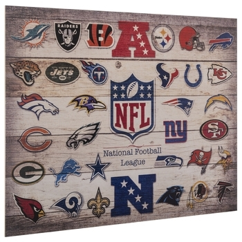 Nfl Logos Wood Wall Decor | Hobby Lobby | 536060 Intended For Nfl Wall Art (Image 9 of 20)
