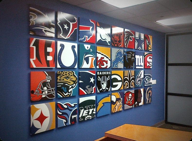 Nfl Wall Murals | Mural5 | Jason's Bedroom | Pinterest | Wall Murals In Nfl Wall Art (Image 19 of 20)