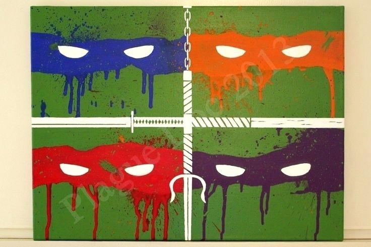 Ninja Turtle Wall Art Ninja Turtle Wall Decor Ninja Turtle Vinyl Pertaining To Ninja Turtle Wall Art (Image 7 of 25)