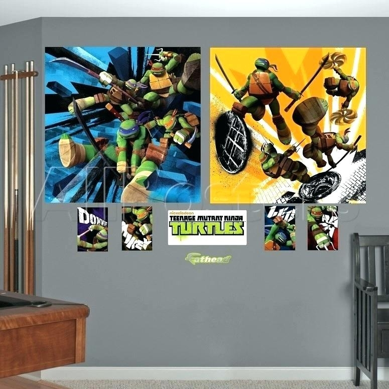 Ninja Turtle Wall Decals Ninja Turtle Wall Decor Turtles Wall Decals Intended For Ninja Turtle Wall Art (Image 11 of 25)