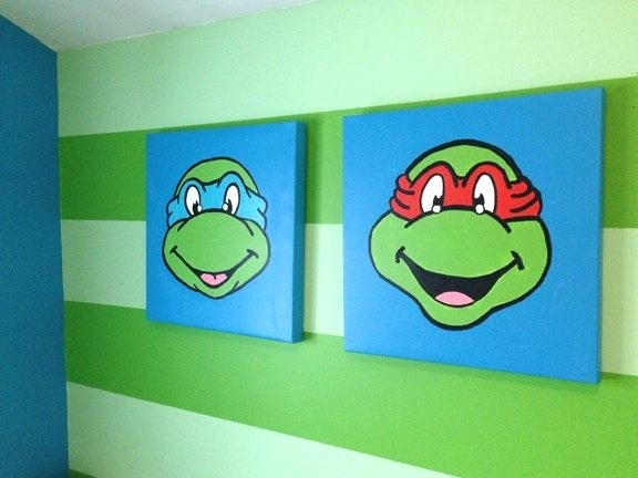 Ninja Turtle Wall Decor Adorable Captures Teenage Mutant Turtles Inside Ninja Turtle Wall Art (Image 12 of 25)