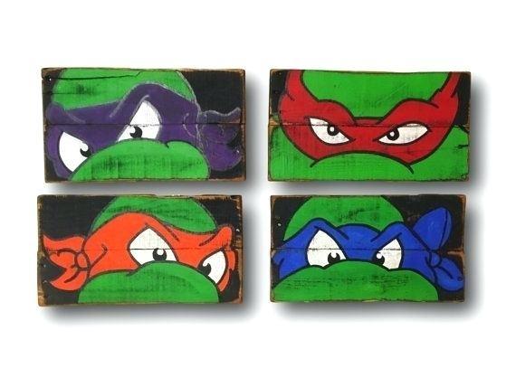 Ninja Turtle Wall Decor Teenage Mutant Ninja Turtles Wall Art Turtle Inside Ninja Turtle Wall Art (Image 13 of 25)