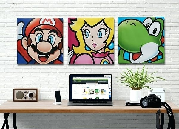 Nintendo Wall Art Wall Ideas Wall Art Controller Wall Art Regarding Pertaining To Nintendo Wall Art (Image 10 of 20)