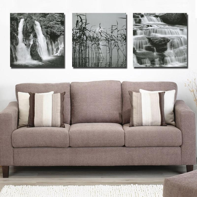 No Frame) Running Water Landscape Wall Art Picture Modern Home Decor For Living Room Painting Wall Art (View 23 of 25)