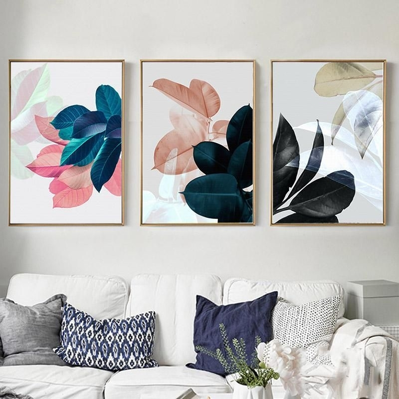 Nordic Art Paintings Wall Pictures For Living Room Posters Plants Intended For Wall Art Canvas (Image 5 of 10)