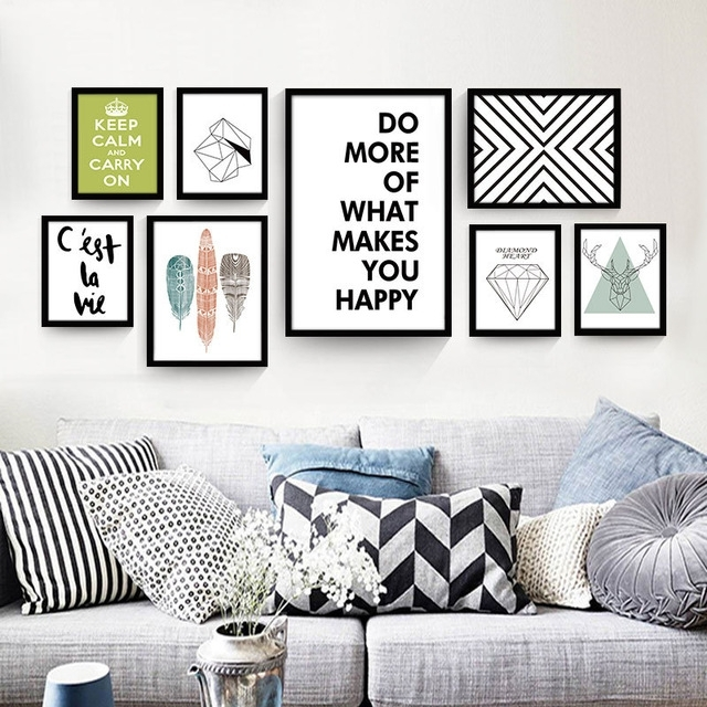 Nordic Large Canvas Art Cheap Decorative Painting Modern Living Room With Regard To Cheap Large Wall Art (Image 23 of 25)