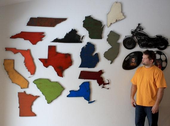 North Carolina Metal Wall Art Nc Wallfunctionalsculpture Regarding North Carolina Wall Art (Image 6 of 20)