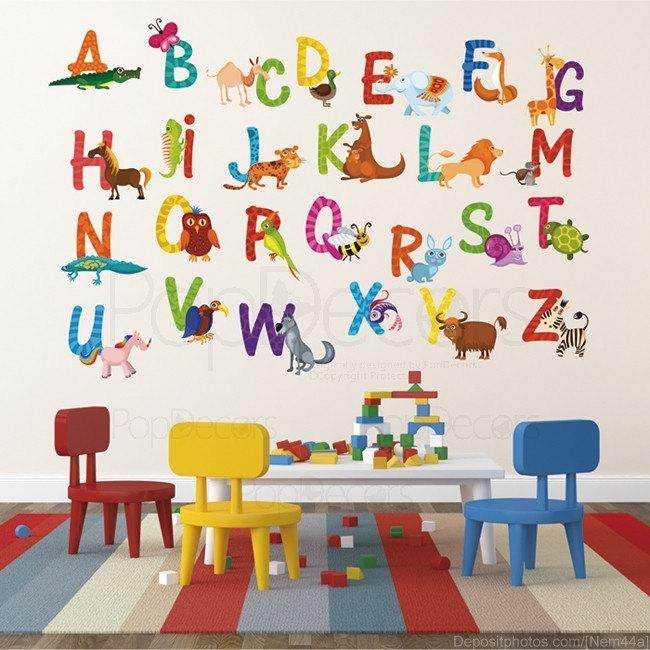 Nursery Abc Alph Cool Alphabet Wall Art – Wall Decoration Ideas With Regard To Alphabet Wall Art (View 15 of 25)