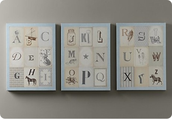 Nursery Alphabet Wall Art {Free Printables} - How To Nest For Less™ regarding Alphabet Wall Art