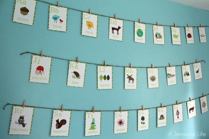 Nursery Prep: Alphabet Wall Art – A Jennuine Life Pertaining To Alphabet Wall Art (Image 22 of 25)
