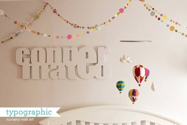 Nursery: Typographic Baby Name Wall Art | Howjoyful | Lettering And With Regard To Name Wall Art (View 18 of 25)