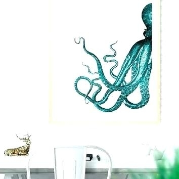 Ocean Wall Decor Sea Life Wall Decorations Sea Life Wall Art Octopus in Sea Life Wall Art