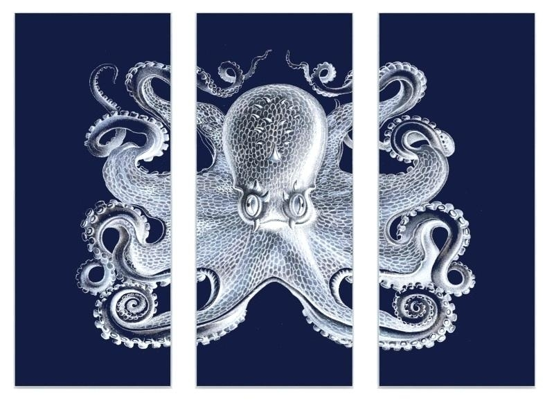 Octopus Wall Art Large Octopus Decal Ocean Wall Decor Sea Octopus With Octopus Wall Art (View 18 of 20)