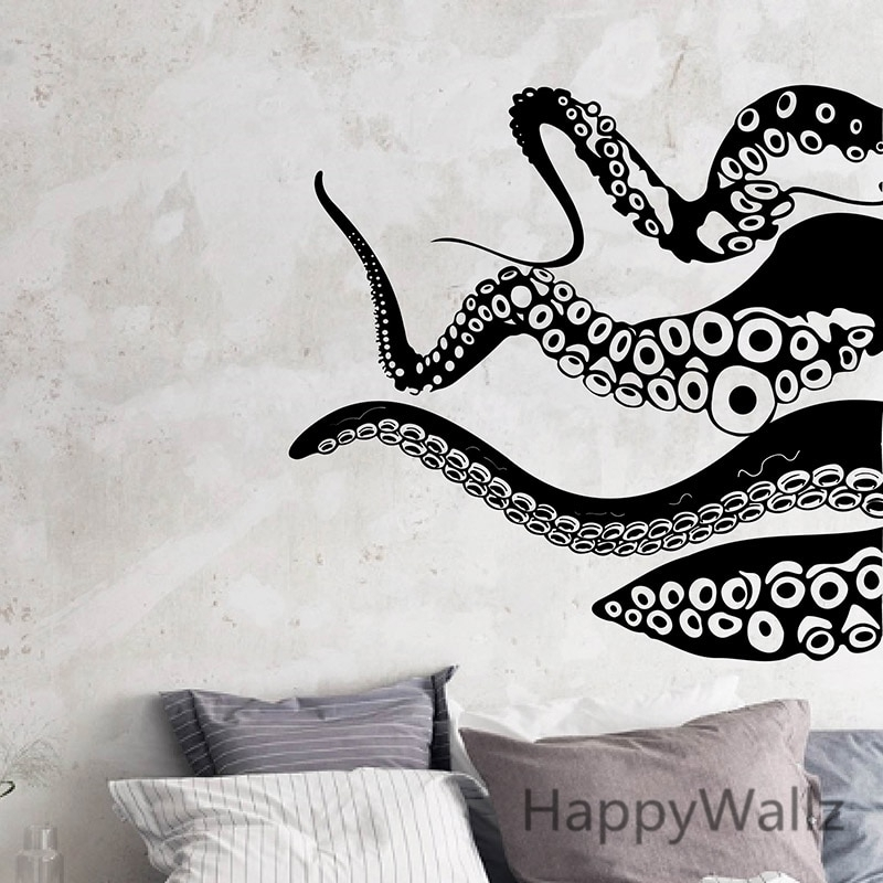 Octopus Wall Sticker Octopus Wall Decals Decorative Modern Vinyl Regarding Octopus Wall Art (View 8 of 20)