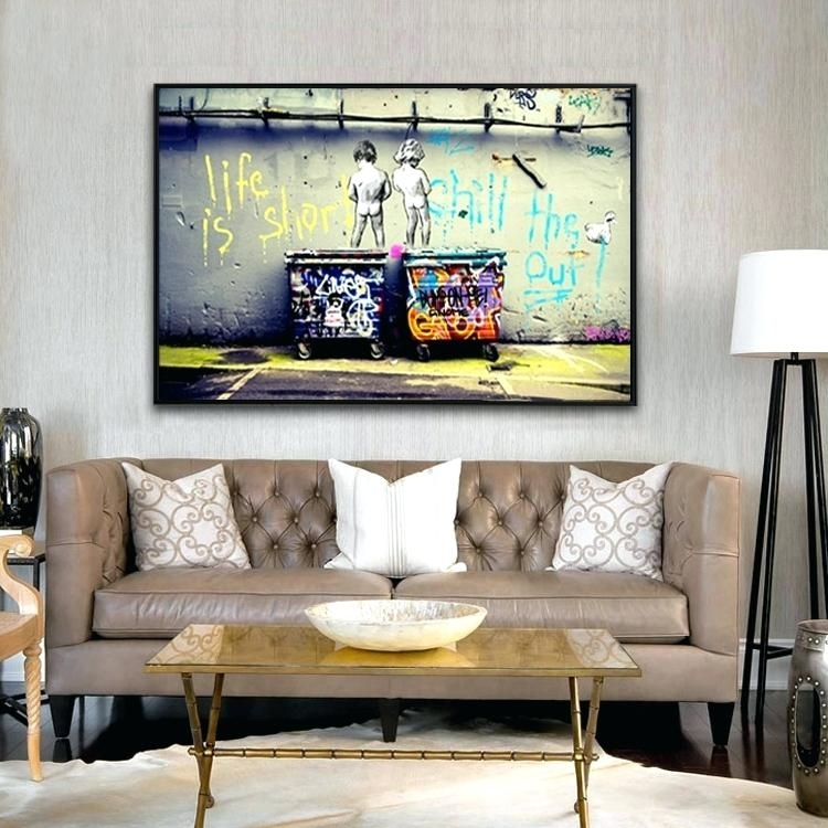 Oil Painting On Canvas Wall Pictures Paintings For Living Room Within Popular Wall Art (Image 17 of 20)