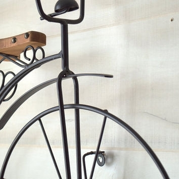 Old Fashioned Bicycle Wall Art, Black From 2Ndhandchicc On Etsy With Regard To Black Metal Wall Art (View 15 of 25)
