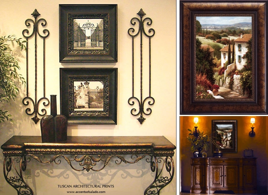 Old World Framed Good Tuscan Wall Art – Wall Decoration Ideas Intended For Tuscan Wall Art (Image 5 of 25)