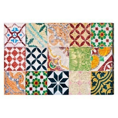 Oliver Gal Granada Tiles Canvas Wall Art Intended For Tile Canvas Wall Art (Image 14 of 25)