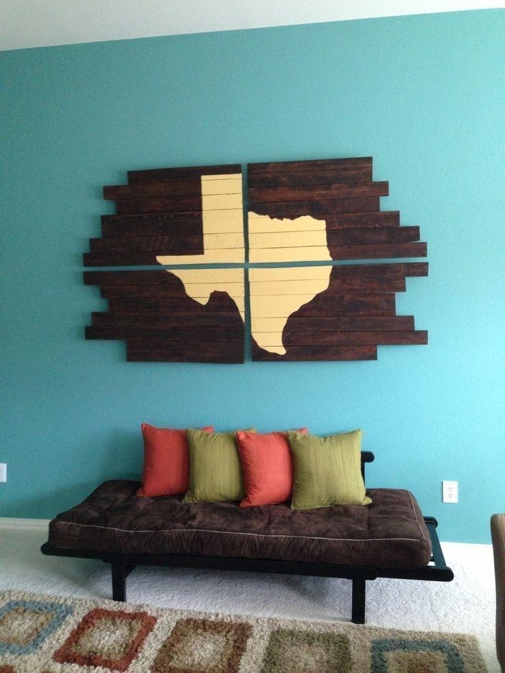 On Décore Les Murs Avec Des Palettes !   Pinterest   Diy Pallet Inside Texas Wall Art (Image 9 of 25)