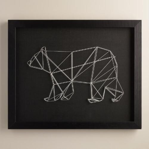 One Of My Favorite Discoveries At Worldmarket: Geo Bear String with World Market Wall Art