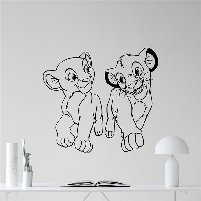 Online Shop Lion King Wall Decal Cartoons Vinyl Sticker Simba With Regard To Lion King Wall Art (View 13 of 25)