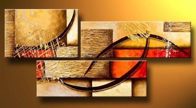 Online Shop Multi Piece 3 Panel Wall Art Abstract Paintings Modern Inside Multi Piece Wall Art (View 10 of 20)