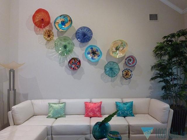 Opulent Design Blown Glass Wall Art Decoration Ideas Villa Lamp Hand With Regard To Blown Glass Wall Art (View 23 of 25)