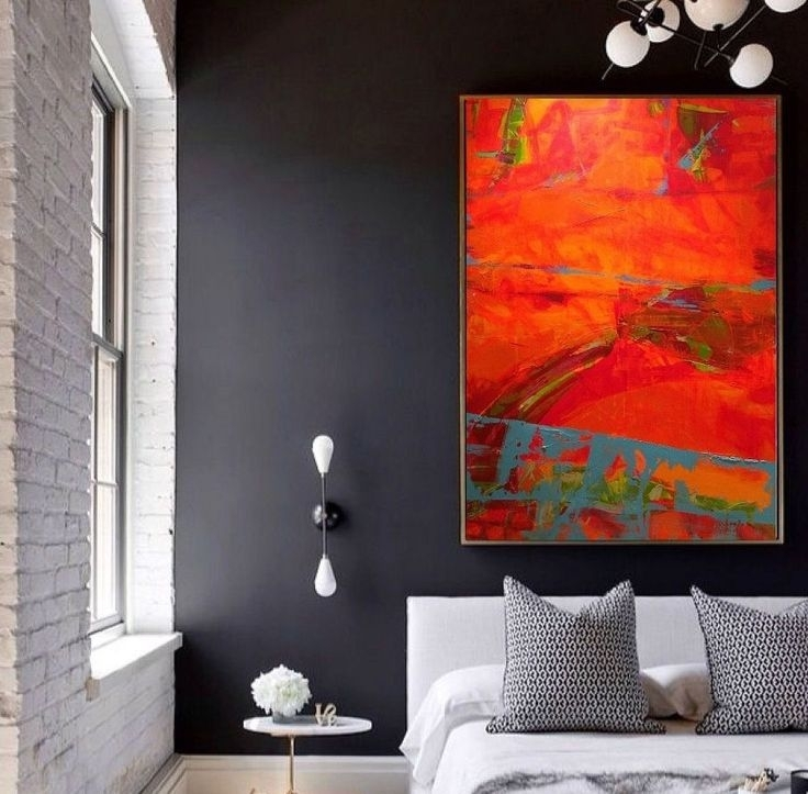 Orange Wall Art 4168 Best Abstract Art Images On Pinterest Abstract With Orange Wall Art (Image 17 of 25)