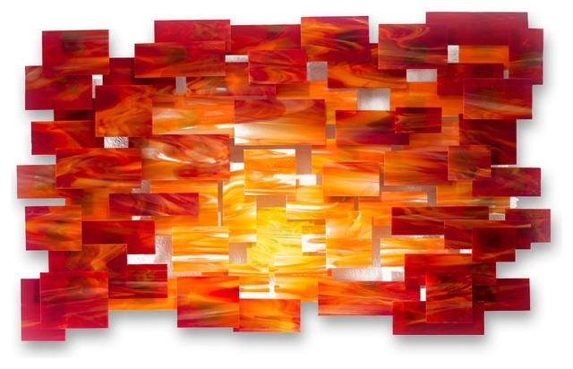 Orange Wall Art Orange Wall Art Glamorous Glass And Metal Wall with Orange Wall Art