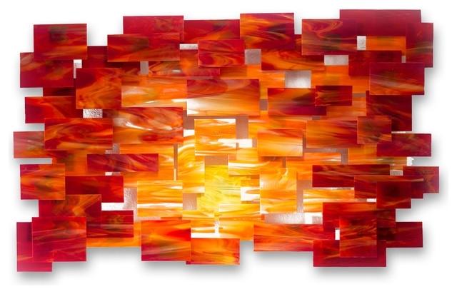 Orange Wall Art Orange Wall Art Glamorous Glass And Metal Wall With Orange Wall Art (Image 21 of 25)