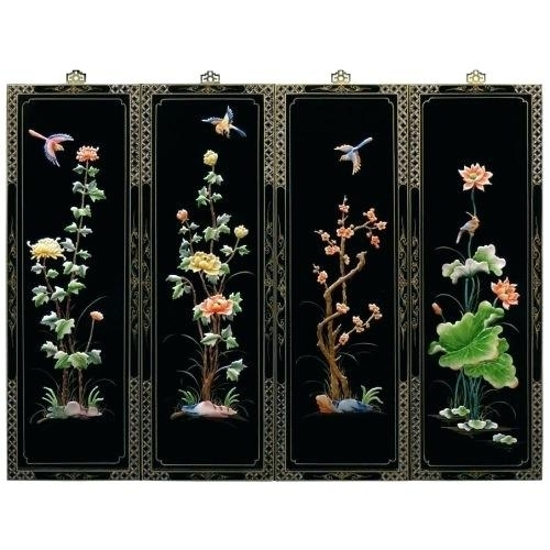 Oriental Wall Decor Wall Panel At Wooden Oriental Wall Decor – 3Dobox With Oriental Wall Art (Image 20 of 25)
