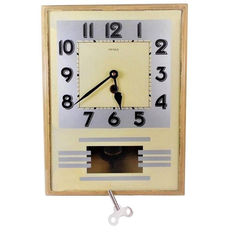 Original 1930S Art Deco Wall Clockkienzle For Sale At 1Stdibs inside Art Deco Wall Clock