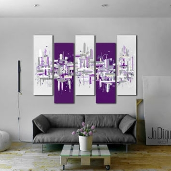 "Original Abstract Painting. 41X64"" 5 From Jo Diquez 