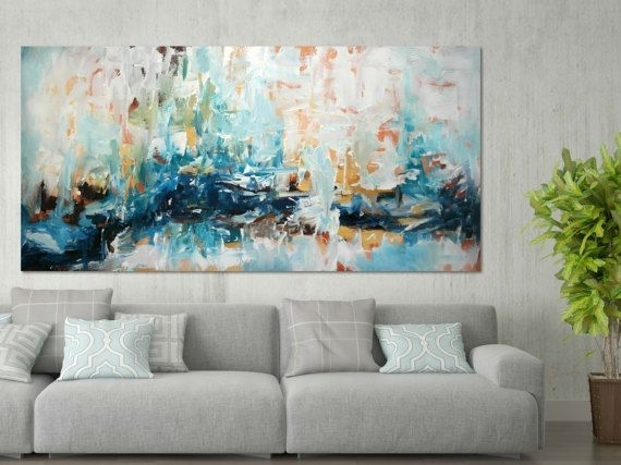 Original Large Abstract Painting, Abstract Art, Acrylic Painting On throughout Large Canvas Painting Wall Art