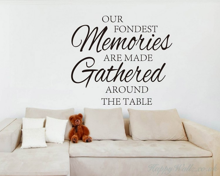 Our Fondest Memories Quotes Wall Art Stickers throughout Quote Wall Art