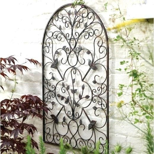 Outdoor Iron Wall Art Wrought Iron Outdoor Wall Decor Beauteous pertaining to Metal Outdoor Wall Art