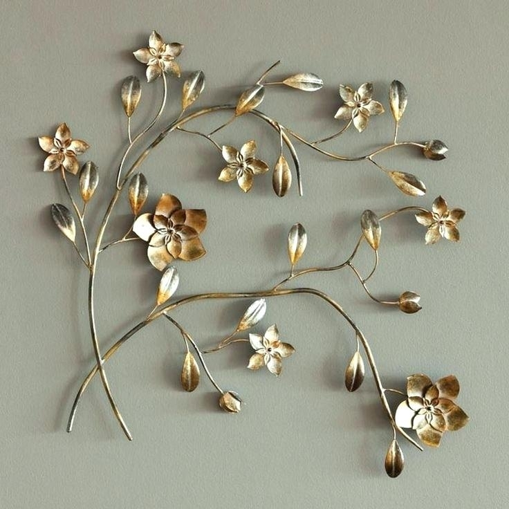 Outdoor Metal Flower Wall Art Metal Flower Wall Art Decor Stunning With Metal Flowers Wall Art (Image 13 of 20)