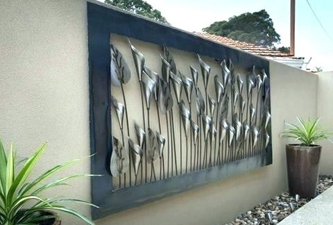 Outdoor Metal Sun Wall Art Metal Wall Art For Outdoors Metal Garden intended for Outdoor Wall Art