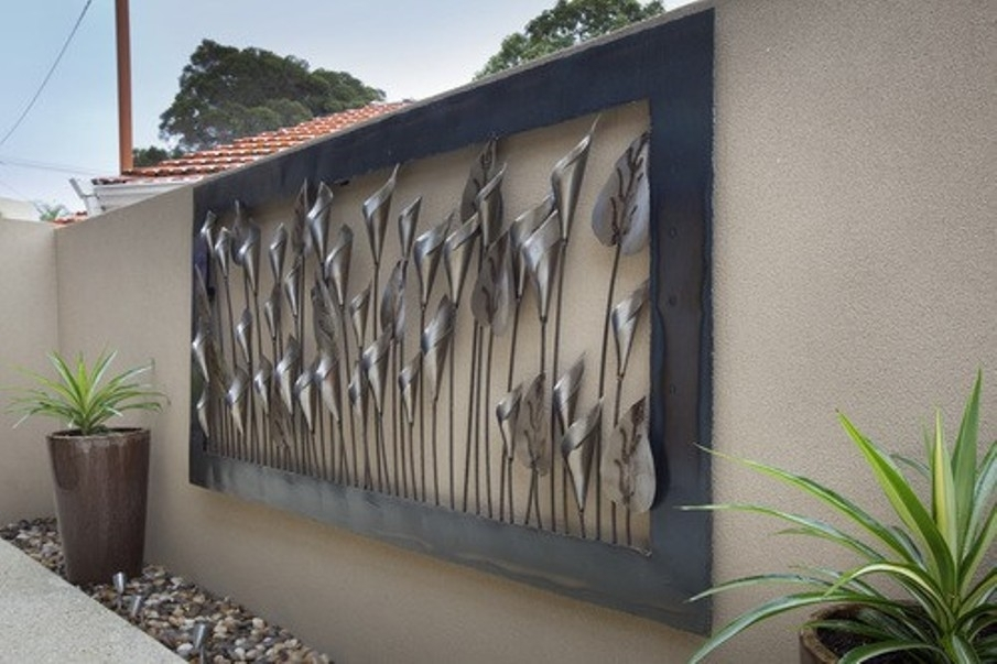 Outdoor Wall Decor Ideas Metal Art Outside Likeable Exterior With Large Outdoor Metal Wall Art (Image 24 of 25)