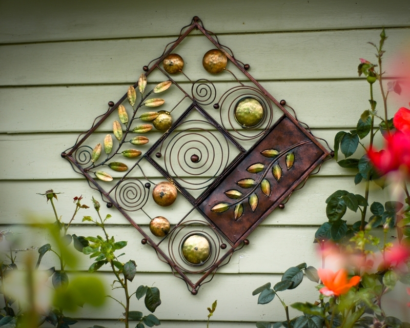 Outdoor Wall Hanging Decor Nice Wrought Iron Intended For Designs 1 Regarding Outdoor Wall Art Decors (Image 15 of 20)