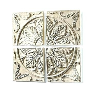 Outdoor Wall Medallion Stucco Wall Medallions Outdoor Medallion Wall intended for Medallion Wall Art